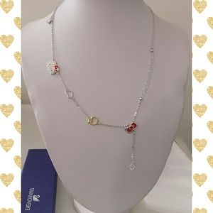 RARE Swarovski Hello Kitty LARIAT TOGGLE Necklace